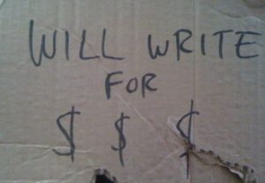 writing and getting paid
