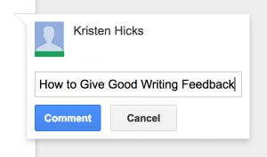 good content writing feedback