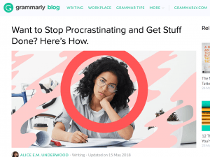 business blogging example grammarly