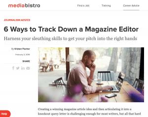business blogging example mediabistro