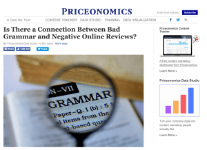 business blogging example priceonomics