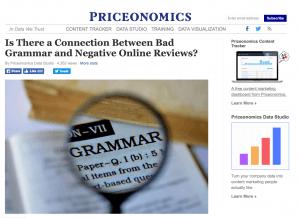 business blogging example priceonomics